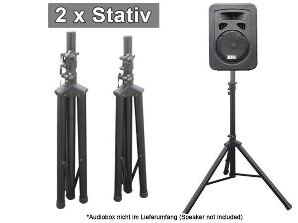 2 st ck boxenst nder stativ st nder f r audio boxen lautsprecher speaker modell bs3x2. Black Bedroom Furniture Sets. Home Design Ideas