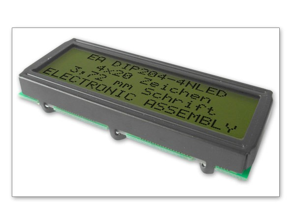 Electronic-Assembly-EA-DIP204-4HNLED-Alphanumerische-Dotmatrix-LCD-Modul