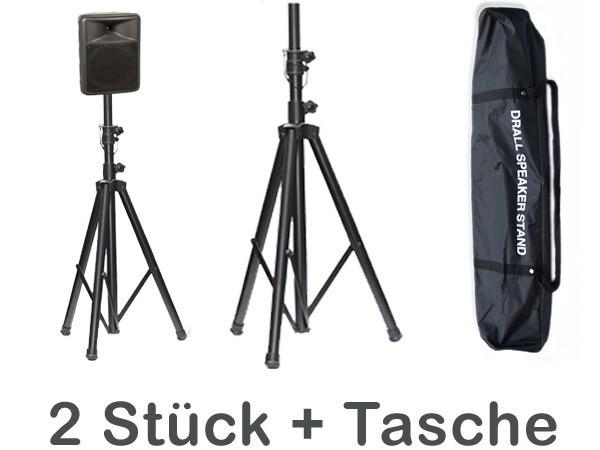 2x-PA-Boxenstaender-Tasche-Boxenstative-Lautsprecher-Box-Stative-Staender-3-Bein