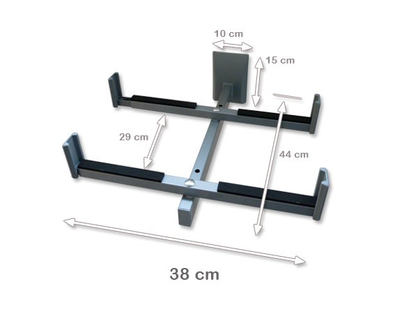 xavax mikrowellenhalterung robuste wandhalterung bis 30. Black Bedroom Furniture Sets. Home Design Ideas