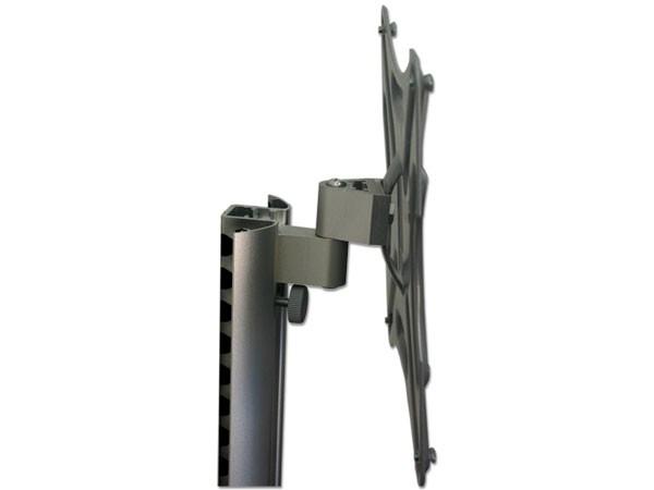 schwenkbar neigbar wandhalterung lcd monitor halter 26 40 zoll kabelkanal aluminium modell l90. Black Bedroom Furniture Sets. Home Design Ideas