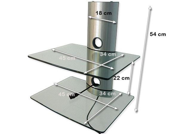 tv wand regal system hifi wandhalterung wandhalter dvd ebay. Black Bedroom Furniture Sets. Home Design Ideas