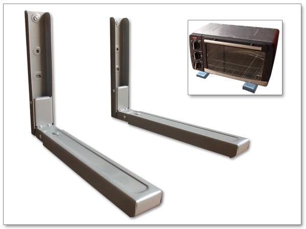 xavax mikrowellenhalterung robuste wandhalterung bis 30 kg ausziehbar bis 43 x 51 cm inkl. Black Bedroom Furniture Sets. Home Design Ideas