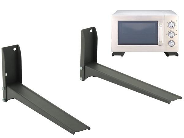 universal wandhalterung halter mikrowelle lautsprecher boxen bluray dvd player schwarz modell h76b. Black Bedroom Furniture Sets. Home Design Ideas