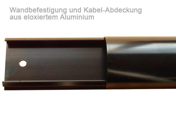 Kabelkanal kabelabdeckung aluminium f r fernseher led lcd monitor 100 cm lang schwarz modell zl1b - Kabelabdeckung wand tv ...