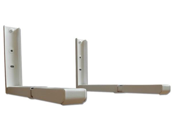wandhalterung mikrowelle mikrowellenhalterung lautsprecher halterung ausziehbar wei modell h71w. Black Bedroom Furniture Sets. Home Design Ideas