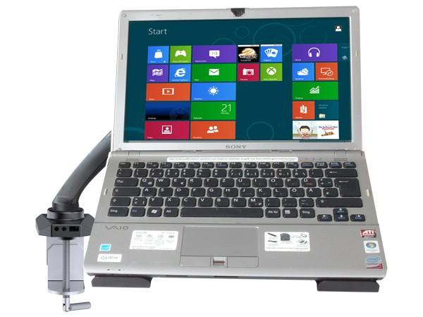 laptop tisch halterung mit adapterplatte f r notebook. Black Bedroom Furniture Sets. Home Design Ideas
