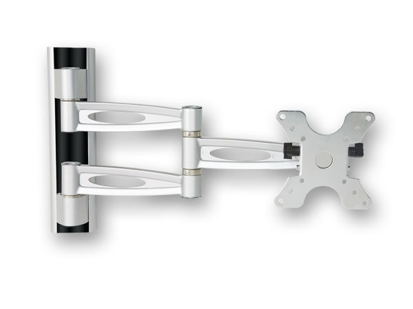 Tv wandhalterung aus aluminium mit kabelf hrung u wasserwaage vesa 75 100 200 led lcd modell l51 - Kabelabdeckung wand tv ...